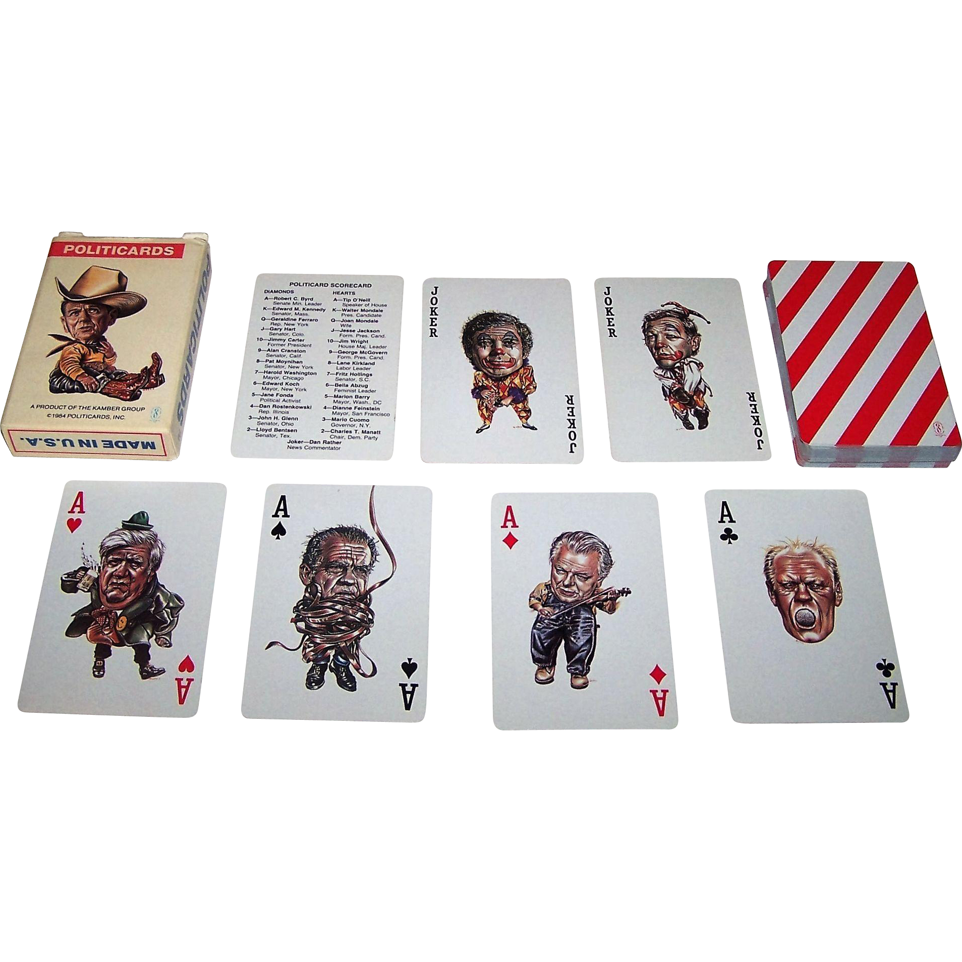 "Reagan ""Politicards"" Playing Cards, Donald Gates Designs, c.1984"