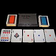"S.R. Huntley ""Bid-Rite"" No-Revoke Playing Cards, Art Deco Backs, c.1932"