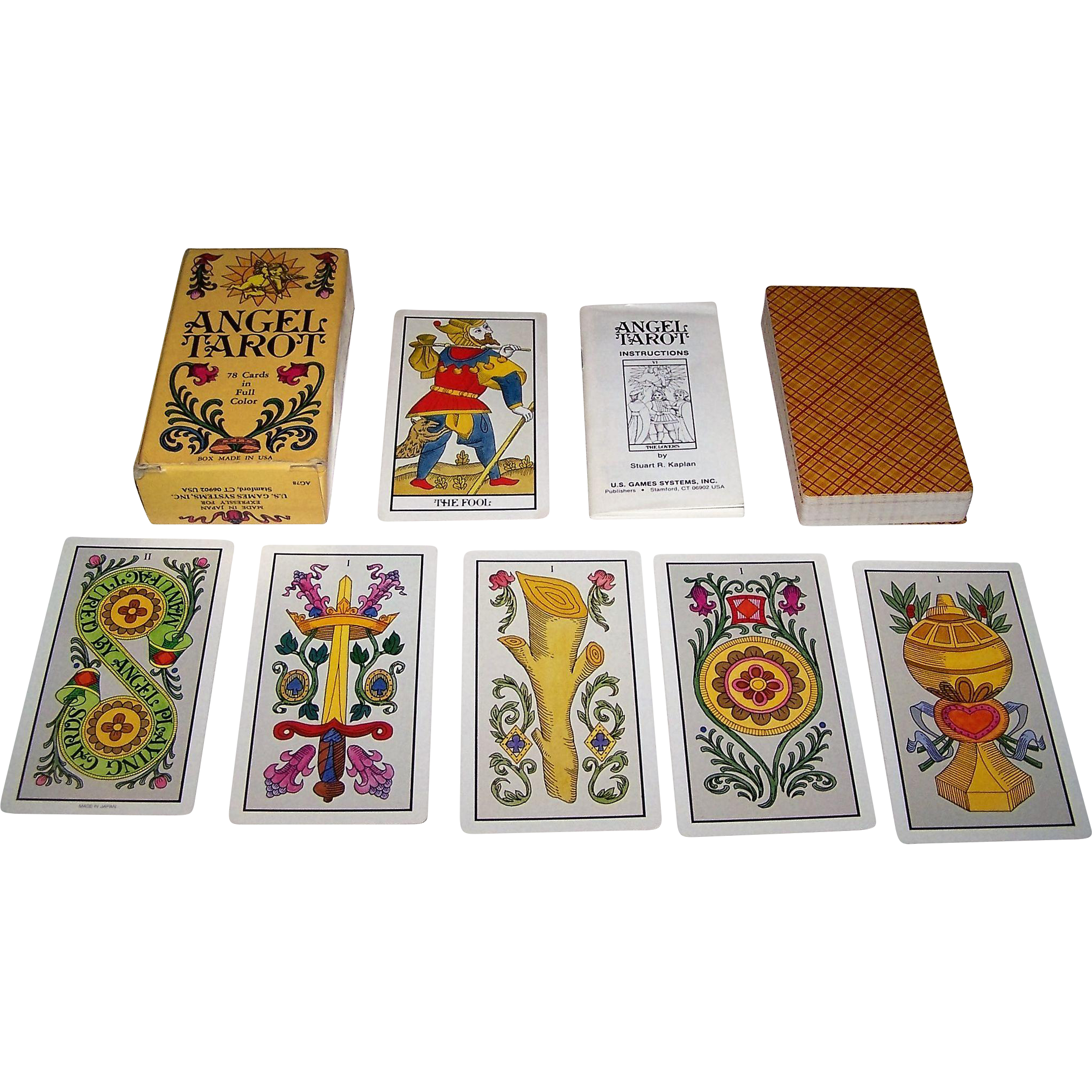 "Angel Playing Card Co. ""Angel Tarot"" Tarot Cards, U.S. Games Systems Publisher, c.1990s"