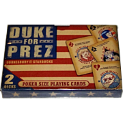 "Double Deck Starbucks ""Duke for Prez"" Advertising Playing Cards, Gary Trudeau ""Doonesbury"" Designs, c.2000"