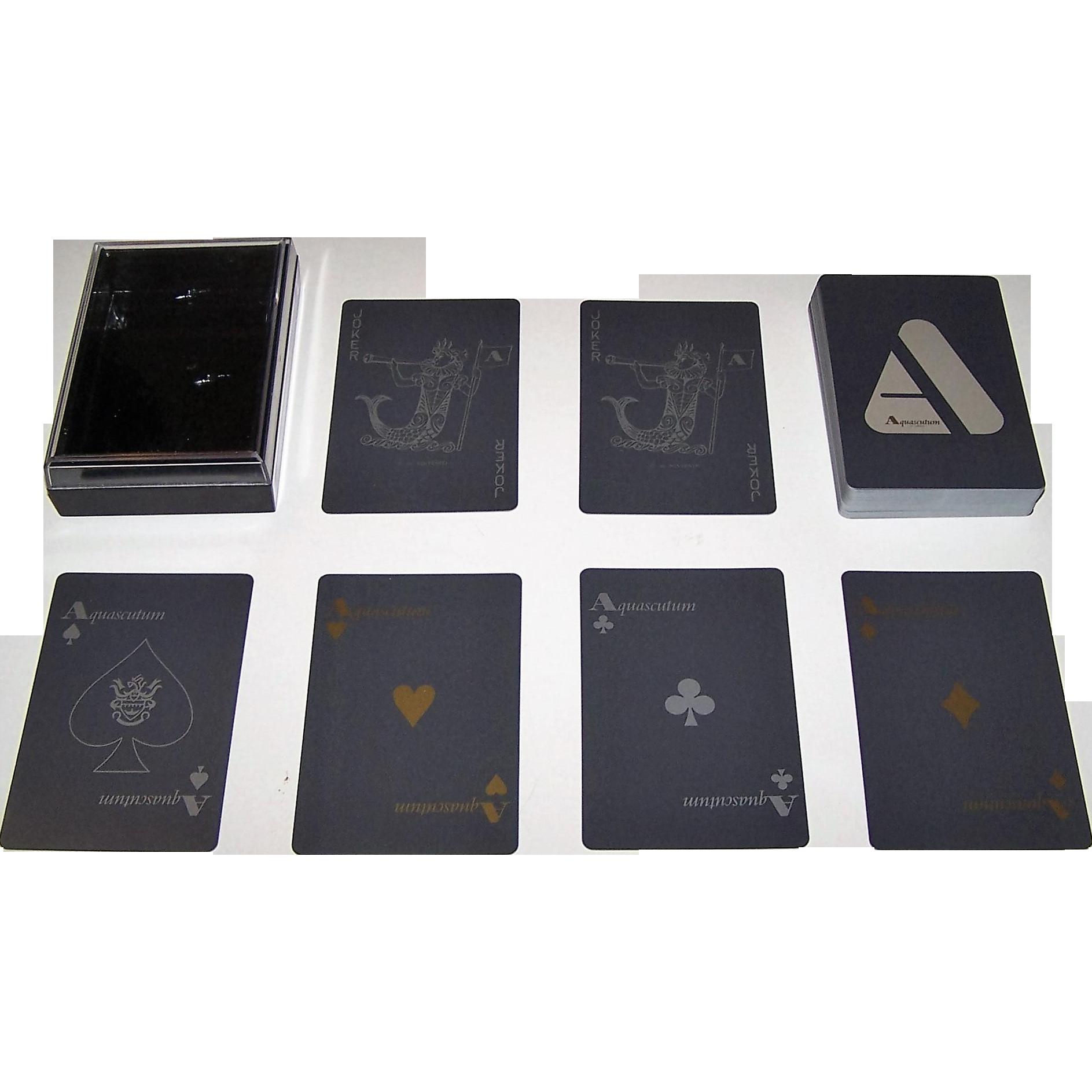 "Nintendo ""Aquascutum"" Playing Cards, c.1983"