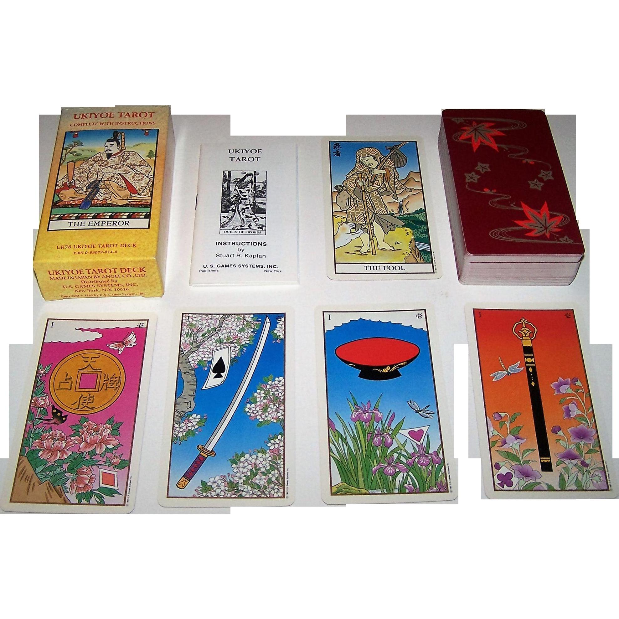 "Angel (U.S. Games Systems) ""Ukiyoe Tarot,"" Tarot Cards, Koji Furuta Designs, c.1982"