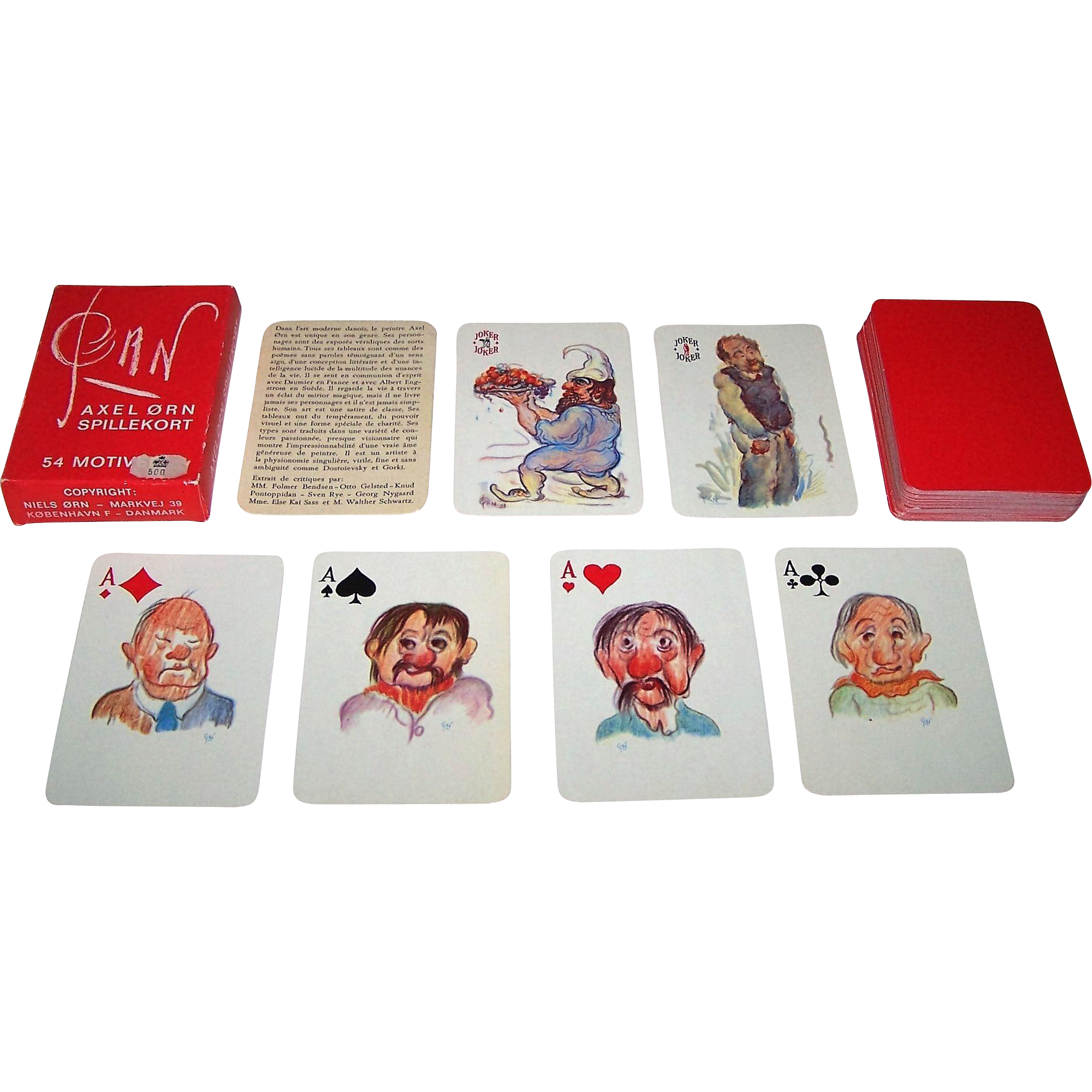 "Handa ""Pan"" Playing Cards, Axel Orn Designs, c.1965"