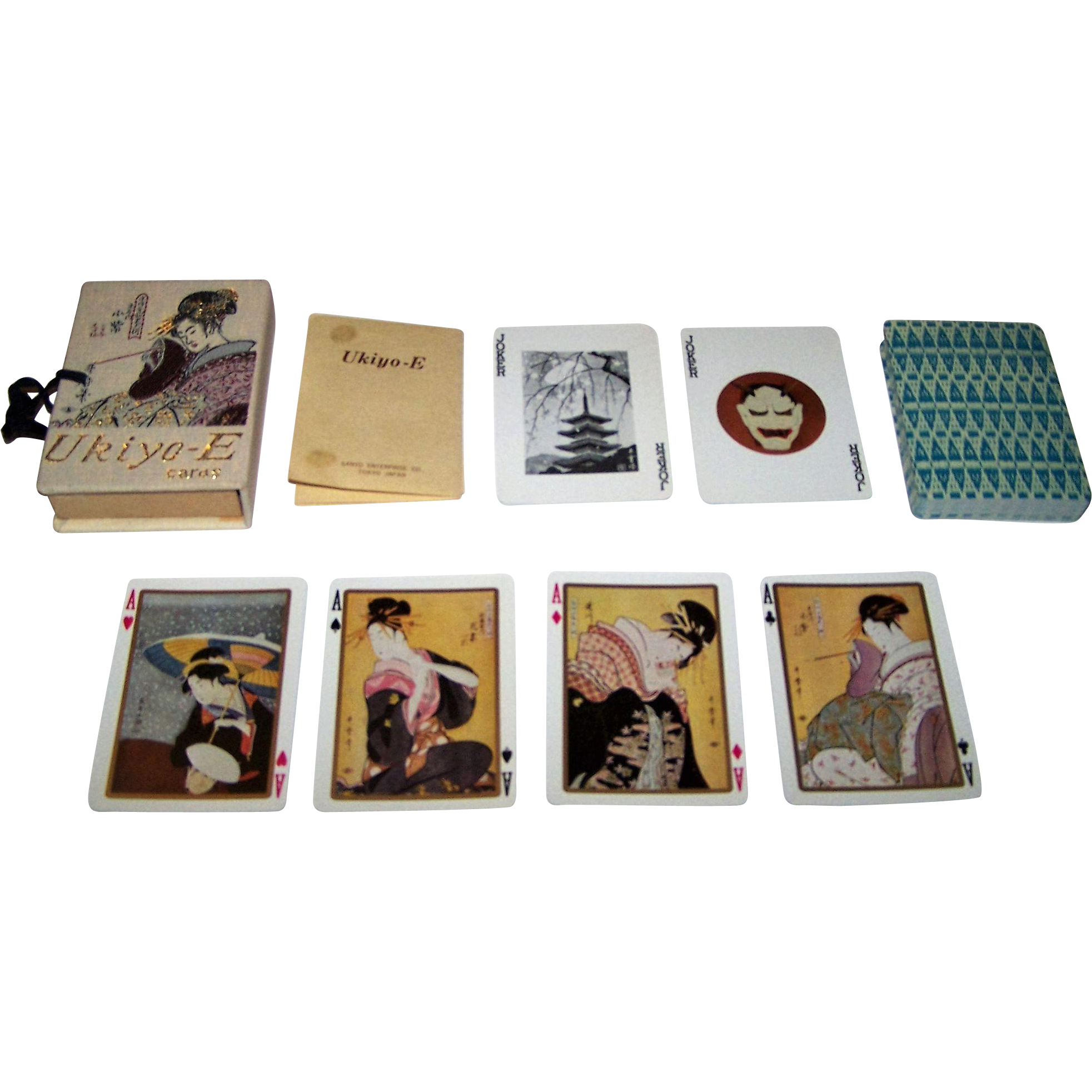 "Nintendo ""Ukiyo-E"" Playing Cards, Sanyo Enterprise Co. Publ., c.1960"