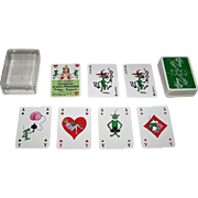 "Bielefelder ""Die Kleinen Grunen Männchen"" (""The Little Green Men"") Patience Playing Cards, Pat Mallett Designs, c.1979"