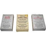 "3 Decks Roger Whiting Facsimile Playing Cards, $15/ea.: (i) ""Bubble Cards""; (ii) ""1688 Revolution""; and (iii) ""Spanish Armada"""