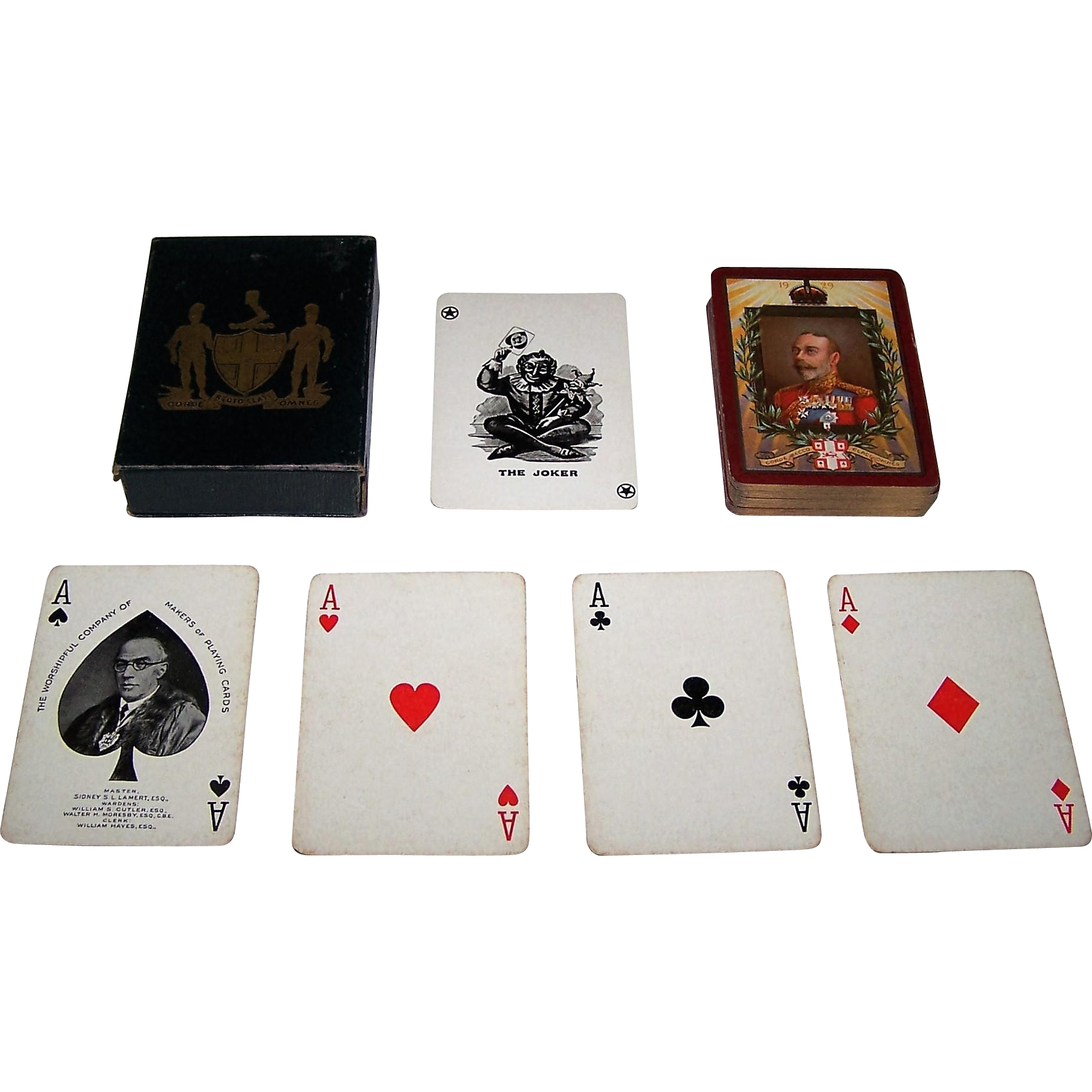 "The Worshipful Company of Makers of Playing Cards ""Our King Restored to Us"" 1929 Annual Deck, Portrait of King George V, Master Sidney S. L. Lamert, c.1929"