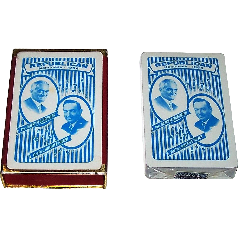 "Arrco ""Goldwater/Miller"" Political Playing Cards, 1964"