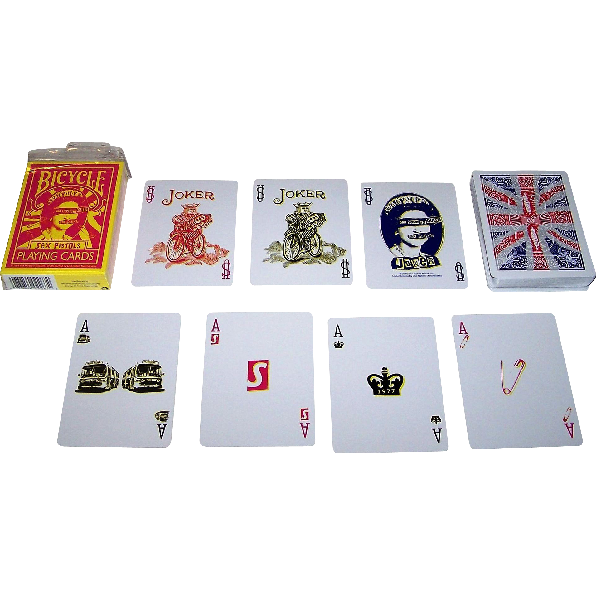 "USPC (Bicycle Brand) ""Sex Pistols"" Playing Cards, New Suits Deck"