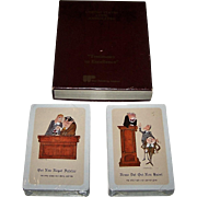 "Double Deck RCI (Brown & Bigelow) ""United States Code Annotated"" Playing Cards, Courtroom Cartoons, c.1969"