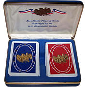 "Double Deck Kem ""Bicentennial"" Playing Cards, c.1976"