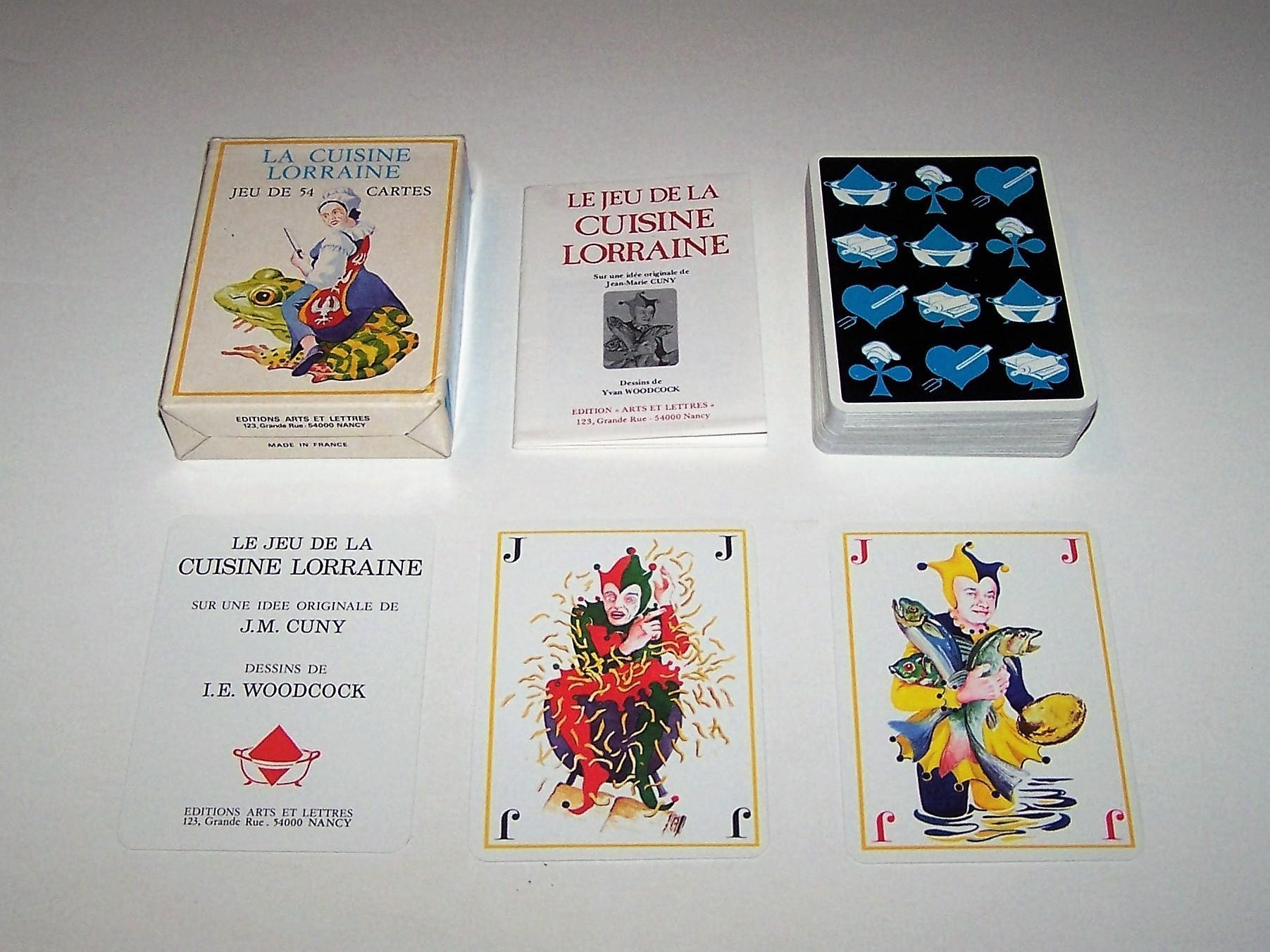 edition arts et lettres le jeu de la cuisine lorraine