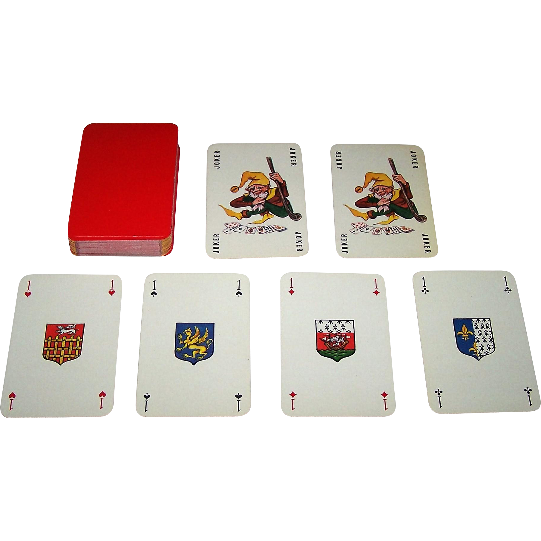 "Le Diouris (?) ""Bretagne"" Playing Cards, Mlle. Motejá (Marie-Therese Jallon) Designs, c. 1980"