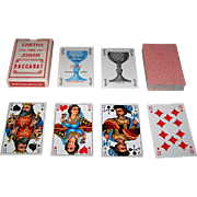 "Copag ""Baccarat"" Playing Cards, C.L. Wuest House Pattern 3 Courts, c.1980 (?)"