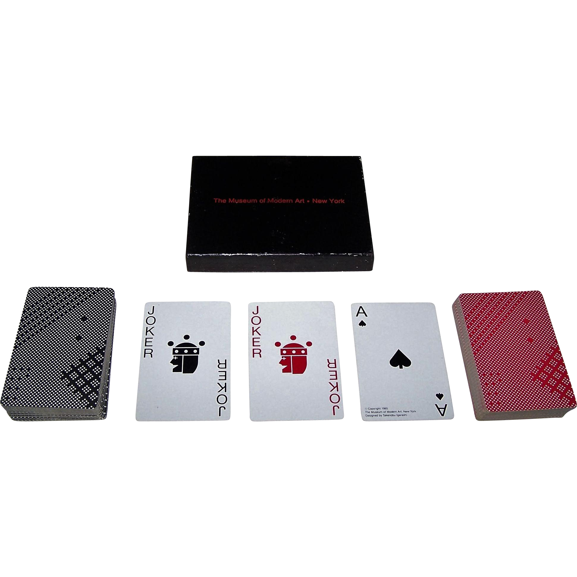 "Double Deck Piatnik ""Takenobu Igarashi"" Playing Cards, Museum of Modern Art Publisher, Takenobu Igarashi Designs, 1985"