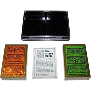"""Double Deck Hoyle """"The Maya Deck"""" Playing Cards, Carlos Licastro Designs, c.1976"""