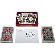"Double Deck Offset es Jatekkartya Nyomda ""Magyar Kiralyok"" (""Hungarian Kings"") Playing Cards, ""Le Roi"" Bridge Decks, c.1991"