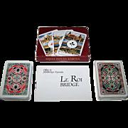 "Double Deck Offset es Jatekkartya Nyomda ""Magyar Kiralyok"" (""Hungarian Kings"") Playing Cards, ""Le Roi"" Bridge Decks, c.1991"
