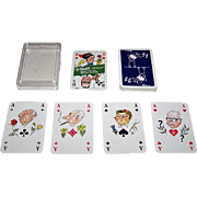 "ASS ""Politisch"" Skat Playing Cards, Wilhelm Hartung Designs, c.1976"