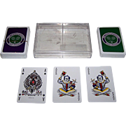 "Double Deck Richard Edward ""Wimbledon"" Playing Cards, ""Standard Goodall"" Pattern"