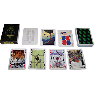 "Carta Mundi ""Art for the Earth"" Transformation Playing Cards, Andrew Jones Art and Friends of the Earth Publishers, 54 Different Artists, c.1992"