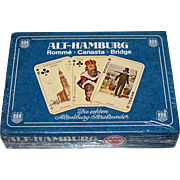 "Double Deck ASS ""Historic Hamburg"" (""Alt Hamburg"") Playing Cards, c.1975"