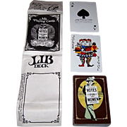 """Ms. Playing Cards """"Lib Deck"""" Playing Cards, Professional Trading Aids Copyright, c.1975"""