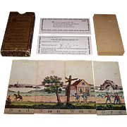"IBM Nederland N.V. Amsterdam ""Alphabetisch Myriorama"" Card Set, Reprint of 1825 Card Set, c. 1970"