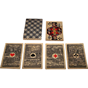"Frommann & Morian ""Französische Spielkarte"" Skat Playing Cards, Brazilian Aces (Dutch Cities), c.1890"