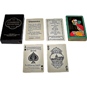 "USPC Congress 606 Whist Playing Cards, Art Deco ""Dolores"" Backs, c.1927"