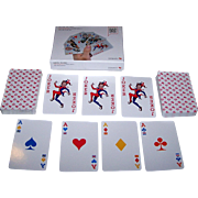 "Double Deck Donkey Products ""Royal Flush"" Canasta Playing Cards, Bi-Color, No Revoke (?)"