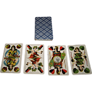 "Altenburger Spielkarten Fabrik Schneider & Co. ""Preussisches Doppelbild"" Skat Playing Cards, c.1890s"