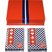 "Double Deck ""Jonathan Adler"" Playing Cards, Maker Unknown, w/ Designer Lacquer Box, Neiman Marcus"