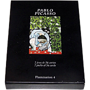 "Double Deck Carta Mundi (Flammarion 4) ""Pablo Picasso"" Playing Cards, [""Enfant Jouant avec un Camion"" and ""Claude Dessinant""], Musee Picasso, c1996"