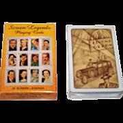 "Carta Mundi ""Screen Legends"" Playing Cards, U.S. Games Systems Publisher, c.1991"