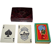 "USPC Congress 606 Playing Cards, Art Deco ""Bubbles"" Backs, c.1927"