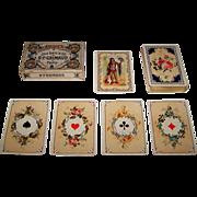 """Grimaud """"Jeu Louis XV"""" Playing Cards, No. 1502, w/ Falconer Joker, c.1920"""