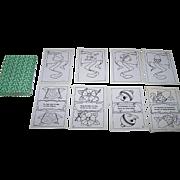 """Dr. E. Brum-Antonioli """"Zuricher Festspiel"""" Playing Cards, Robert Hardmeyer Designs, Ltd. Ed. (__/100) [Black and White Reprint of  Gebruder-Fretz 1903 Original], c.1968"""