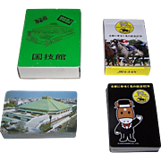 2 Decks Japan Playing Cards, Makers Unknown, $15/ea.: (i) Sumo Wrestling; (ii) Kyoto Race Track