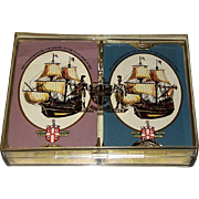 "Double Deck Worshipful Company Playing Cards, ""The Mayflower 1970"""