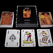 "Double Deck Carta Mundi (Flammarion 4) ""Gustav Klimt"" Playing Cards, [""Judith et Holopherne I"" (detail)"" and ""Hygie, 'La Médicine'"" (detail)], 1993"