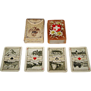 "Dondorf ""Schweitzer Trachten"" (""Swiss Costumes"") Large Patience Playing Cards, Dondorf No. 190, c. 1906"