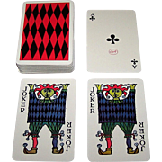 "Oberg ""Comedia"" Playing Cards, Stig Lindberg Designs, 1958"