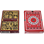 "2 Non-Standard Decks of Playing Cards w/ Christmas Theme, $20/ea.: (i) Carta Mundi ""12 Days of Christmas; (ii) USPC ""Christmas,"" Natalia Silva Designs"