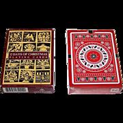 "2 Non-Standard Decks of Playing Cards w/ Christmas Theme, $20/ea.: (i) Carta Mundi ""12 Days of Christmas; (ii) USPC ""Christmas,"" Natalia Silva Designs"