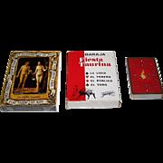 "3 Decks Fournier Playing Cards, $15/ea.: (i) ""The Nude in Art"", c.1977; (ii) ""Baraja Taurina"", Antonio Casero Designs, c .1965; and (iii) ""Firebird"", Yury Shakov Designs, c.1984"