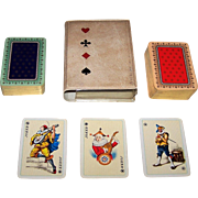 "Double Deck ASS Patience No. 184 Playing Cards, Spielkarten Eduard Buettner ""Salon-Karte"" Courts, c. 1960s (?)"