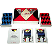 "Double Deck De la Rue ""Comedia"" Playing Cards, Stig Lindberg Designs, 1930"