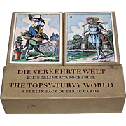 "Edition Leipzig ""Die Verkehrte Welt: Ein Berliner Tarockspiel"" Facsimile Playing Cards (""The Topsy Turvy-World: A Berlin Pack of Taroc Cards"") [1815 Deck by Muller of Berlin] Ltd. Ed. ___/2000 (1000 for Edition Popp), c.1982"