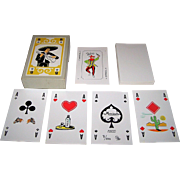 "Siegfried Heilmeier ""Mariachi"" Skat Playing Cards, Hand Colored, Ltd. Ed. (7/100), c.1983"